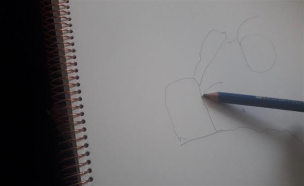 Blyertspenna tecknar i block